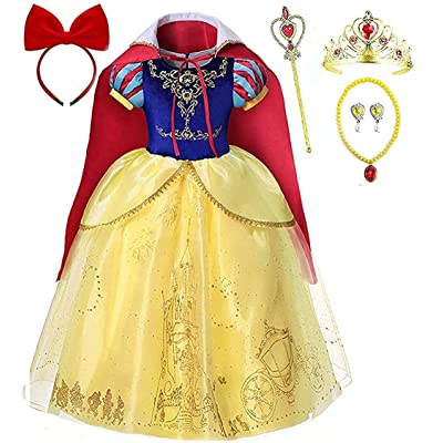 Romy's Collection Skirt Princess Cinderella Costume Girls Dress Up with Accessories: Clothing