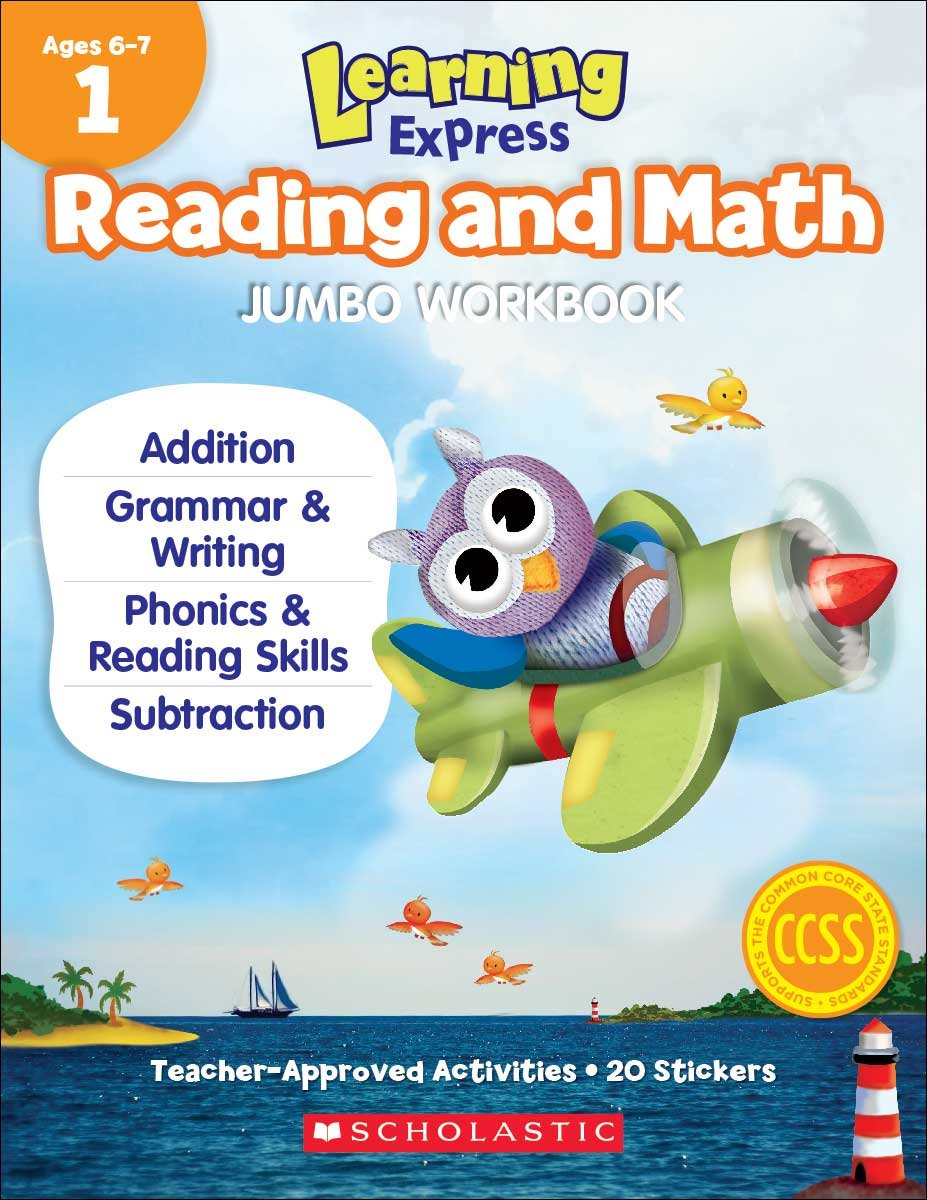 Learning Express Reading and Math Jumbo Workbook PreK: Scholastic ...