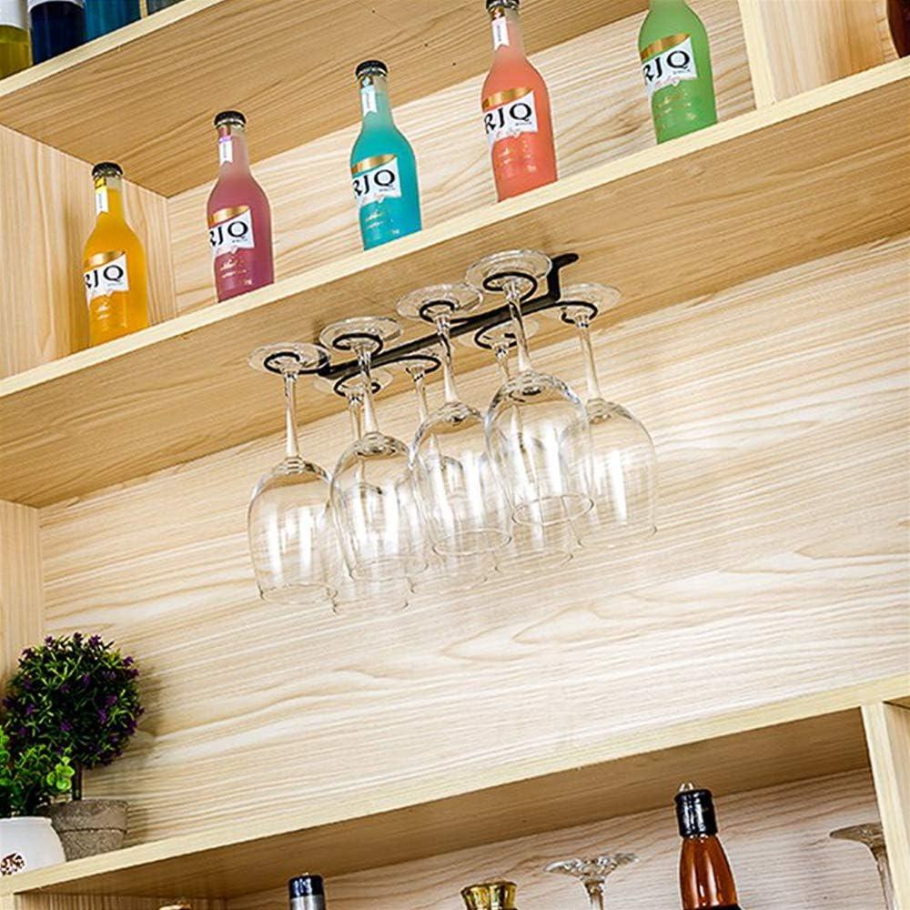 supporto per calici da appendere per bar e cucina Porta bicchieri da vino sotto armadietto per bicchieri da vino Sokey