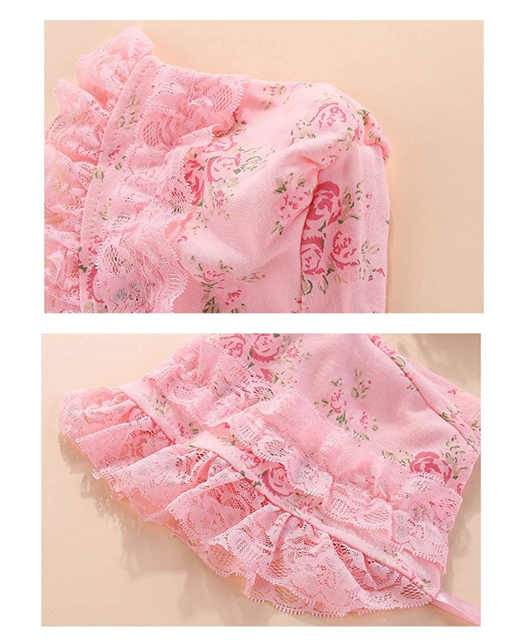 Fairy Baby Newborn Baby Girls Outfit Set 2pcs Clothes Set Lace Floral Romper with Cap