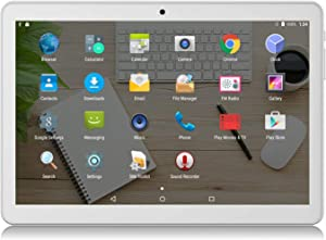 Android Tablet 10 inch,3G Unlocked Phablet with Dual sim Card Slots and Cameras,Tablet PC with WiFi,Bluetooth,GPS