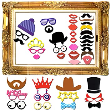60 pcs photo booth props photo booth frame diy kit wedding birthday graduation party props dress - Diy Photo Booth Frame