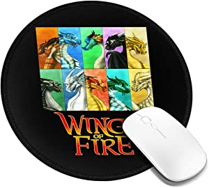 Wings of Fire Mouse Pad Customized Mousepad Non-Slip Mouse Pads for Computers Laptop Office Hemmed Mouse Pad 7.9x7.9 in