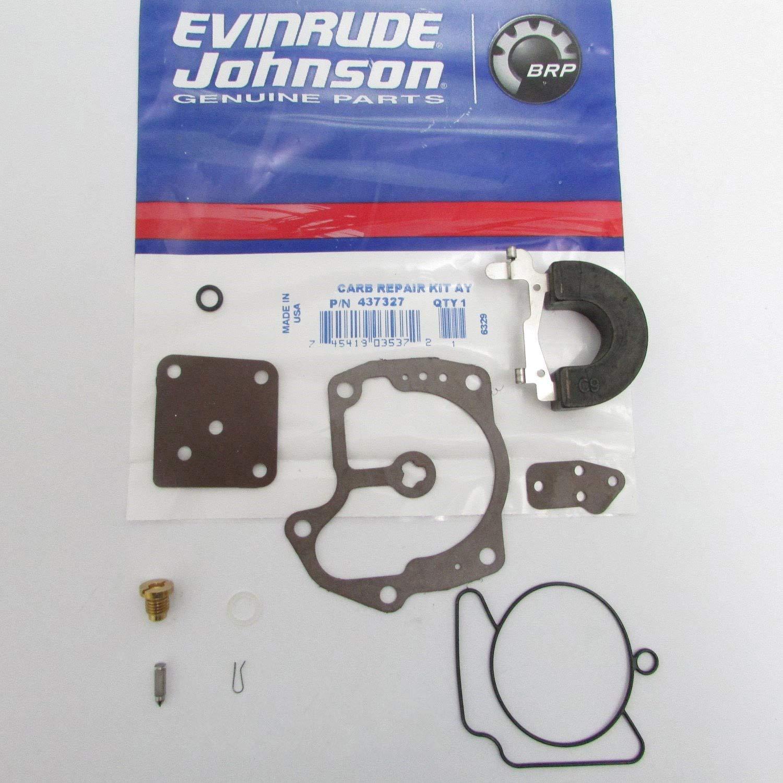 Amazon.com: OEM Evinrude Johnson BRP Outboard Carburetor Kit 437327:  Automotive
