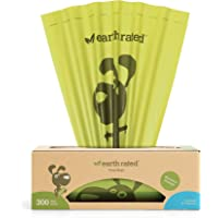 Earth Rated Eco-friendly Dog Poop Bags, 300 Dog Waste Bags on a Large Single Roll, Guaranteed Leak-proof, Unscented…