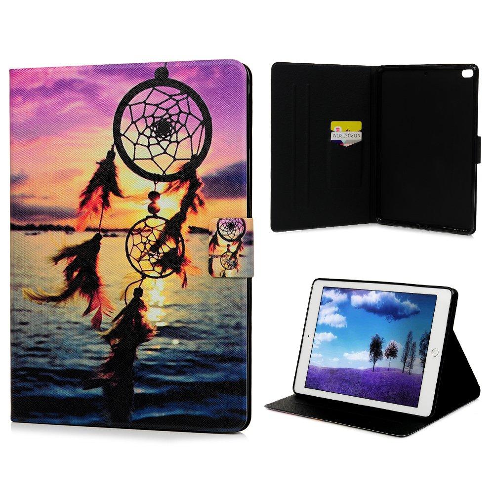 Coque pour iPad Air/Air 2/ iPad 9.7 inch LANVY Bookstyle Étui Housse Imprimé en PU Cuir Case à rabat Coque de protection Portefeuille Case pour iPad Air/Air 2/ iPad 9.7 inch - Attrapeur De Rêves