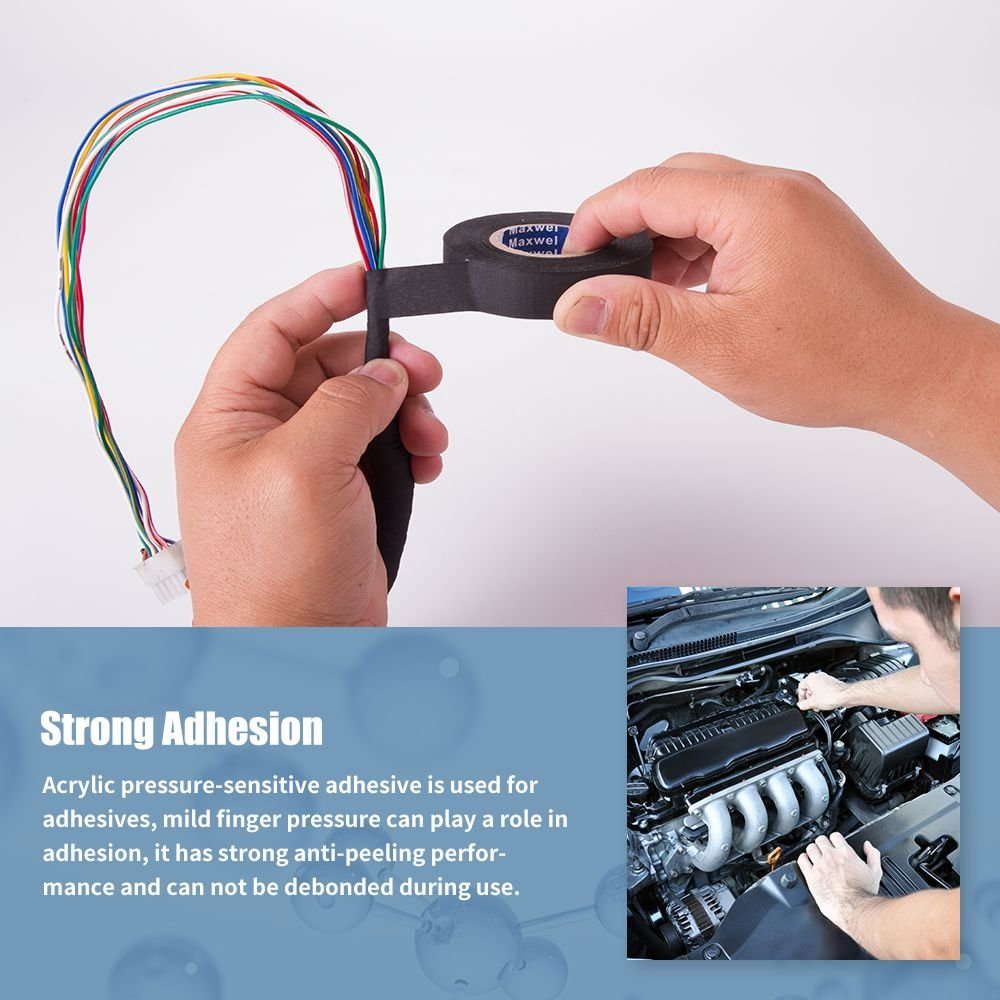 Automotive Wiring Harness Cloth Tape Maxwel Versaf51217 Chemical Fiber High Temp Wire Wrapping