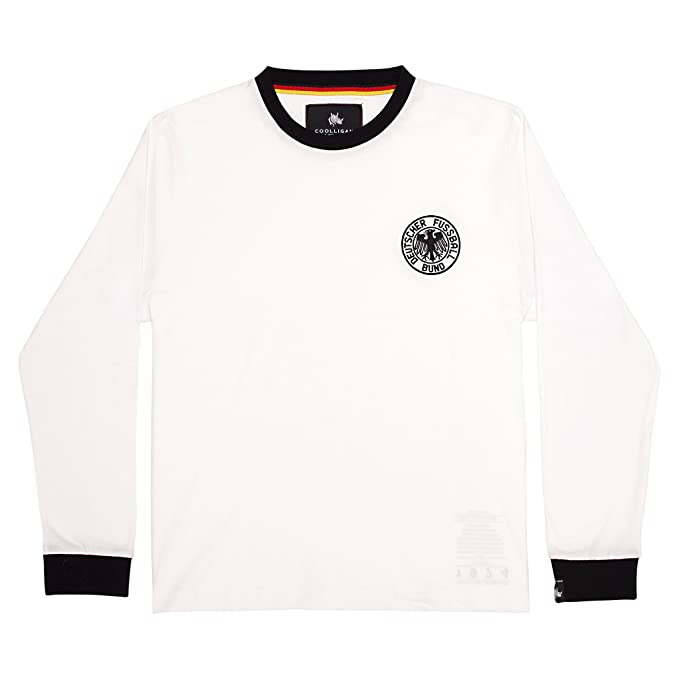 Coolligan - Camiseta de Fútbol Retro 1974 Beckenbauer - Color - Blanco - Talla - 3XL