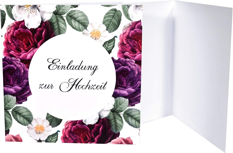 mit Umschlag Fancy 10 x Hochzeit Einladungskarten Hochzeitseinladungen Hochzeitskarten