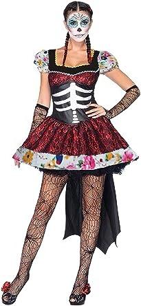 Lecoyer Adulta Disfraz del Día de Muertos Señorita Vestido de Tutu ...