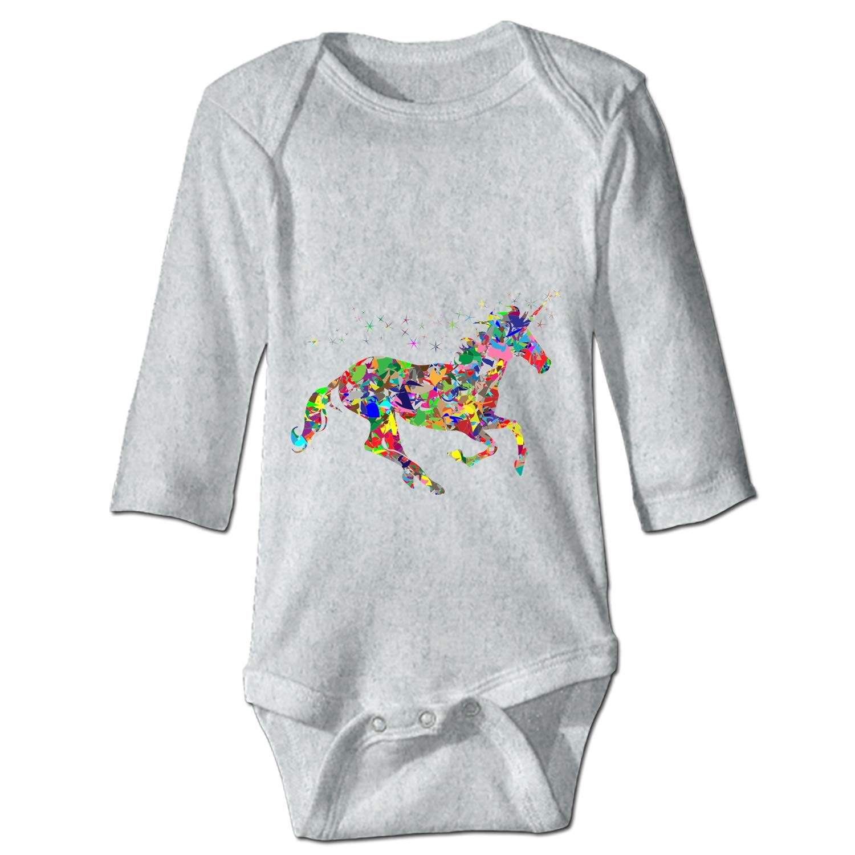 Print Baby Creeper Rainbow Unicorn Baby Bodysuit One Piece