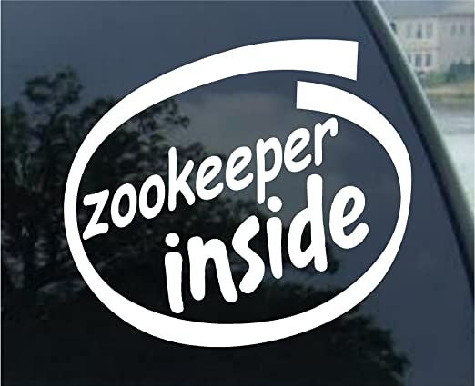 Amazon com zookeeper inside vinyl graphic sticker decal automotive