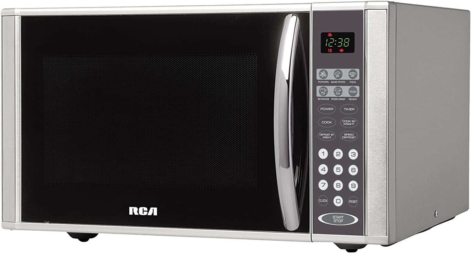 "RCA rmw1138 21"" 1.1 cu.ft, Microwave Oven Countertop, Stainless Steel"