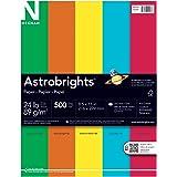 """Astrobrights Color Paper, 8.5"""" x 11"""", 24 lb / 89 gsm, """"Eco"""" 5-Color Assortment, 500 Sheets"""