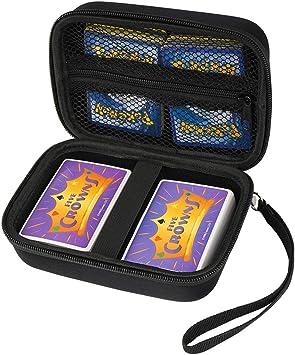 Cpano Bolsa de Almacenamiento de Transporte de Estuche rígido para Tarjetas de Comercio Pokemon/YuGiOh/UNO/Se Adapta a hasta 400 Tarjetas,Titular de Juego de Cartas con Divisor extraíble (Negro): Amazon.es: Juguetes y juegos