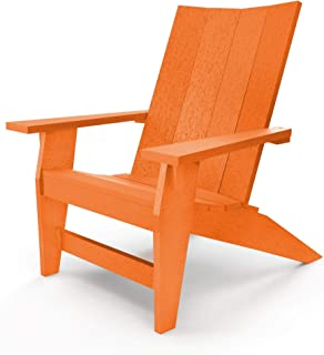 product image for Hatteras Hammocks Orange Adirondack Chair, Eco-Friendly Durawood, All Weather Resistance, Fit 'N' Finish Handcrafted in The USA