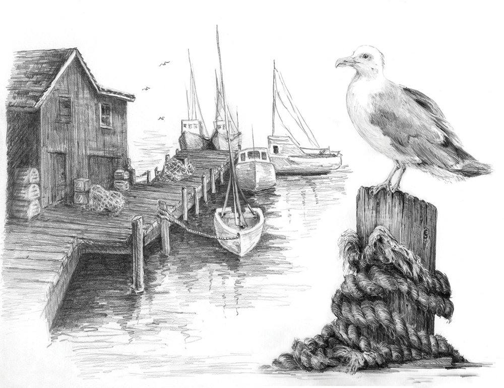 Royal and Langnickel Sketching Made Easy, Fishing Pier