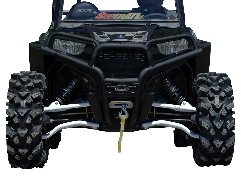 2015-2016 SuperATV Heavy Duty High Clearance A-Arms for Polaris RZR S 900 // RZR 4 900 - 1.5 Offset Black