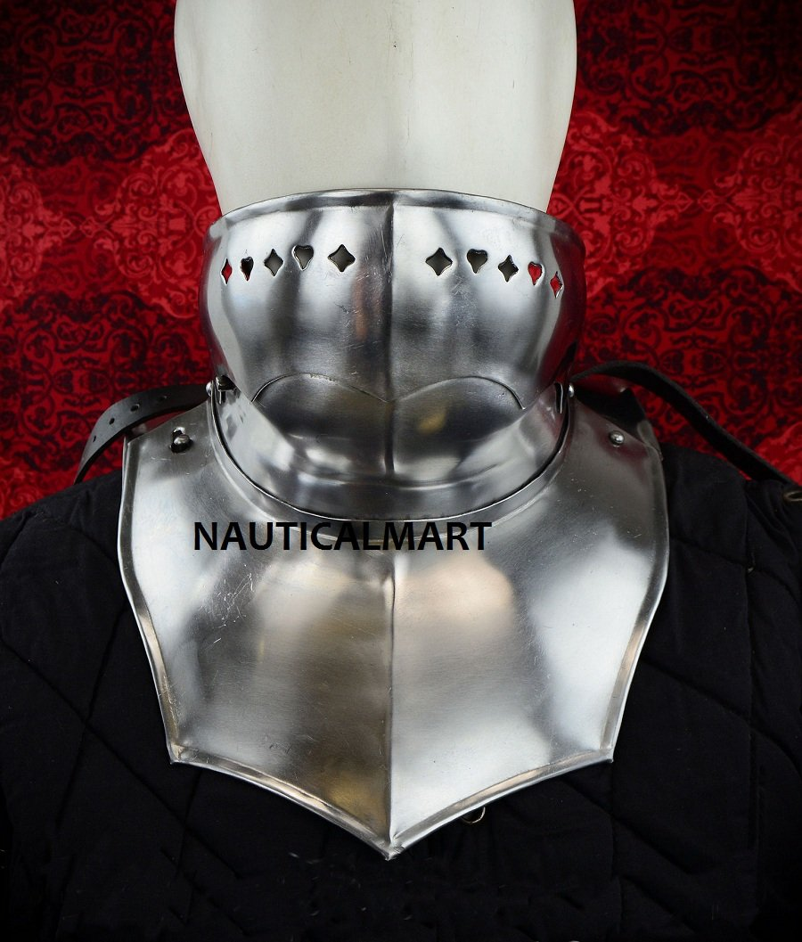 Full Gorget with Bevor - Front Plate and Backplate - 18 Gauge By Nauticalmart