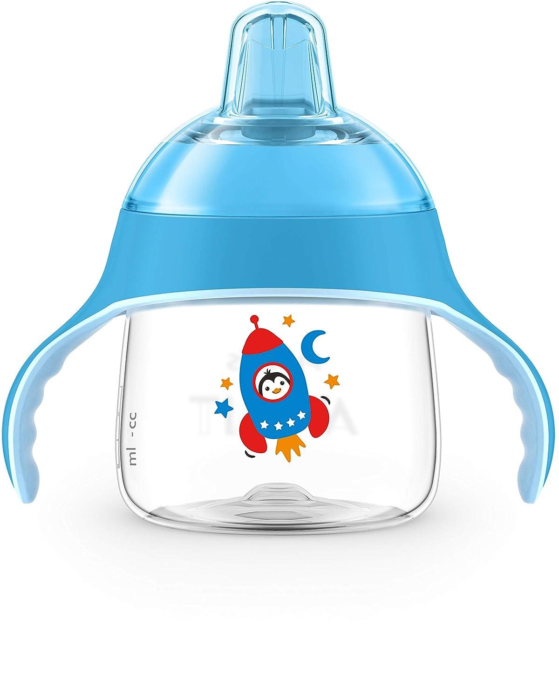 Philips Avent Trinkbecher SCF746//02 200 ml Griffe weicher Schnabel ab 6 Monaten blau