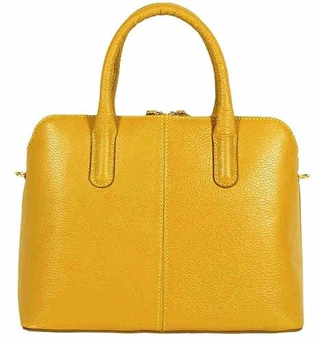 17a6eeb681 Handbag Bliss Italian Grained Leather Handbag Shoulder Bag New Arrival  (Mustard)