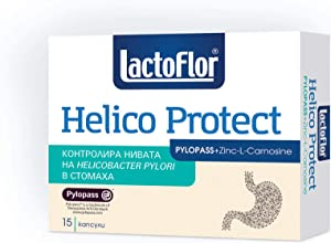 Lactoflor Helico Protect Probiotic with PYLOPASS which counteracts The Helicobacter Pylori Bacteria + Zinc-L-Carnosine