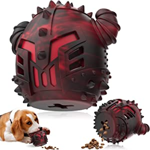 Dog Chew Toys Slow Feeder 2in1 for AggressiveChewers Large Medium Small Breed, Durable Large DogFoodDispenser Interactive Durable Rubber Dog Puzzle Toys for DogMindStimulating Teething Clean