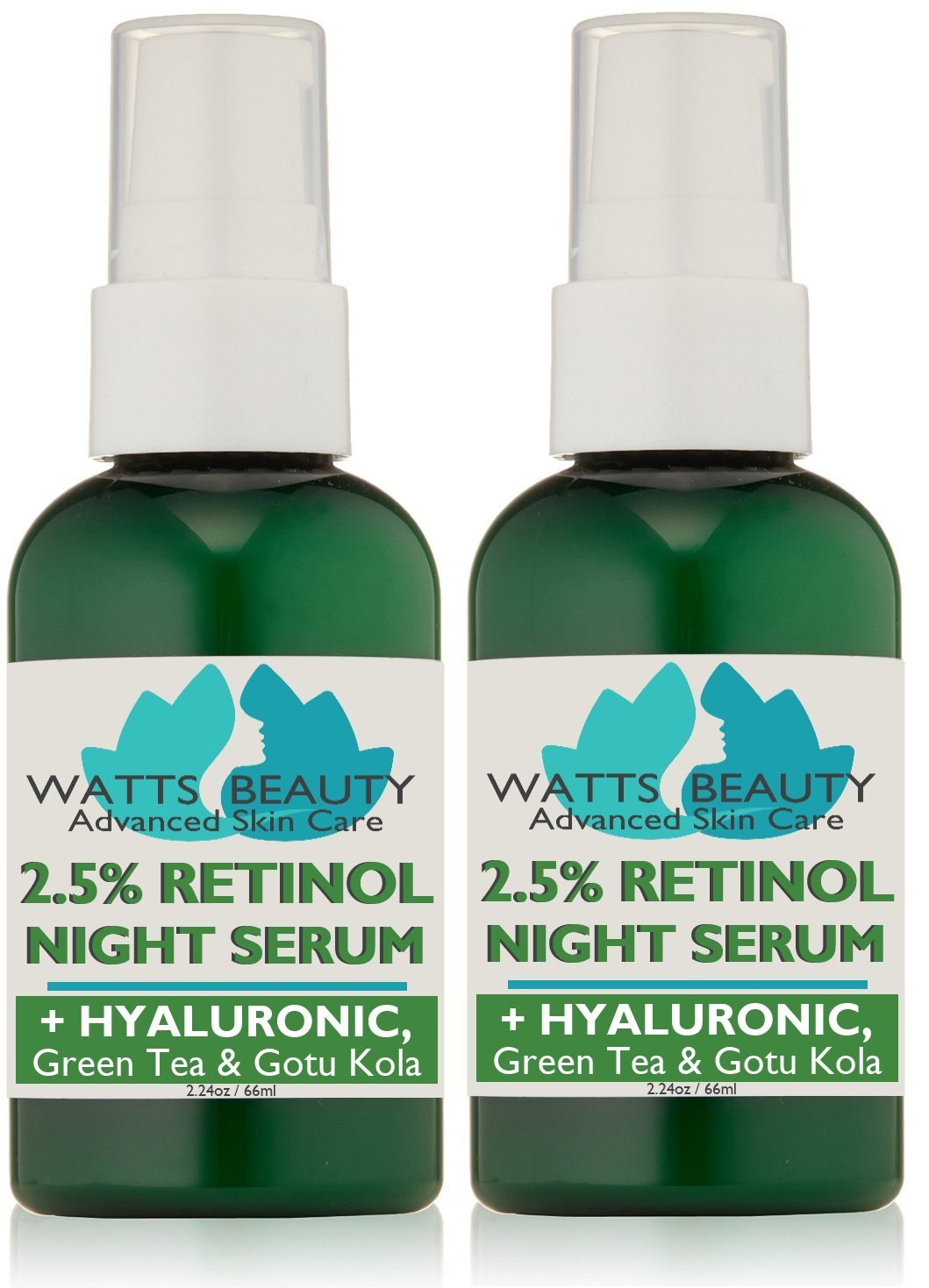 10908f374084 Watts Beauty 2.5% Retinol Serum Enhanced with 50% Hyaluronic Acid - Anti  Aging Retinol for Fine...