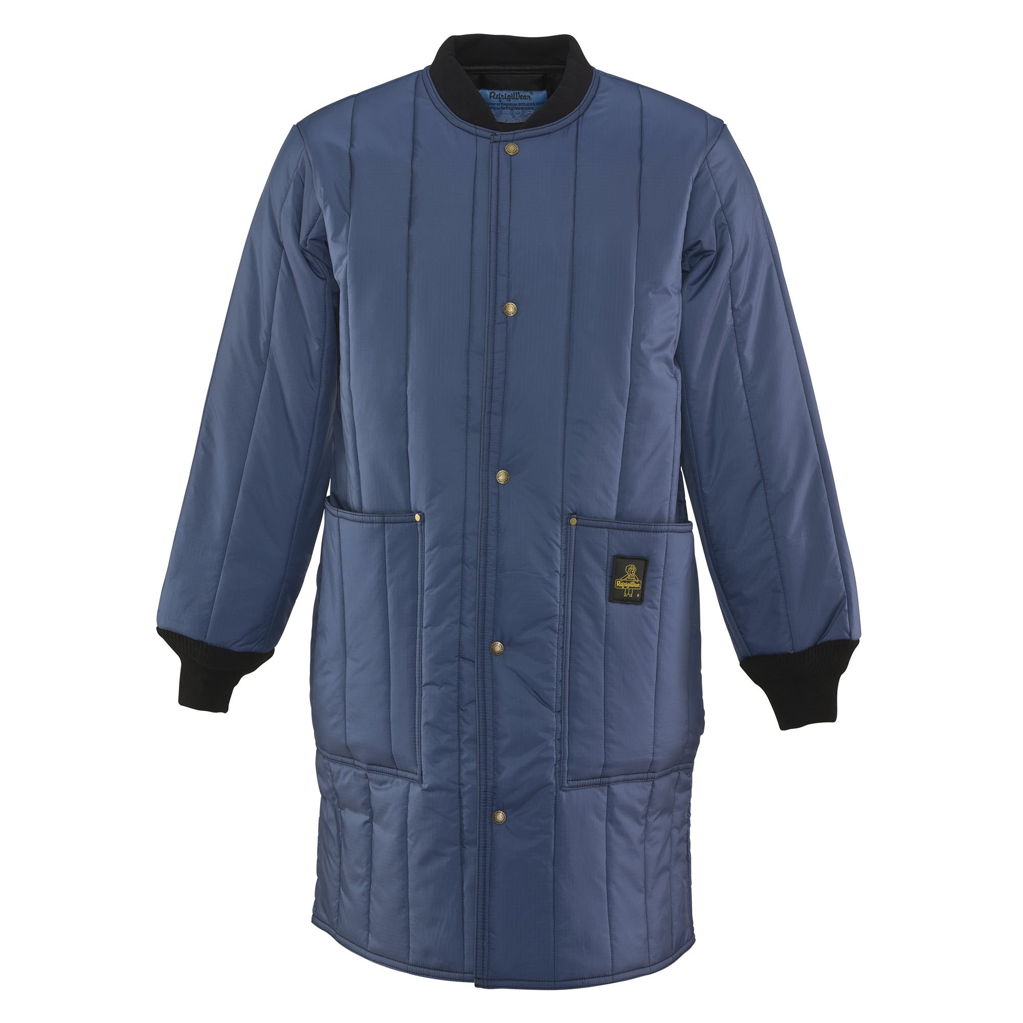 Refrigiwear Men's Insulated Cooler Wear Frock Liner Workwear Coat (Navy Blue, 2XL) by Refrigiwear