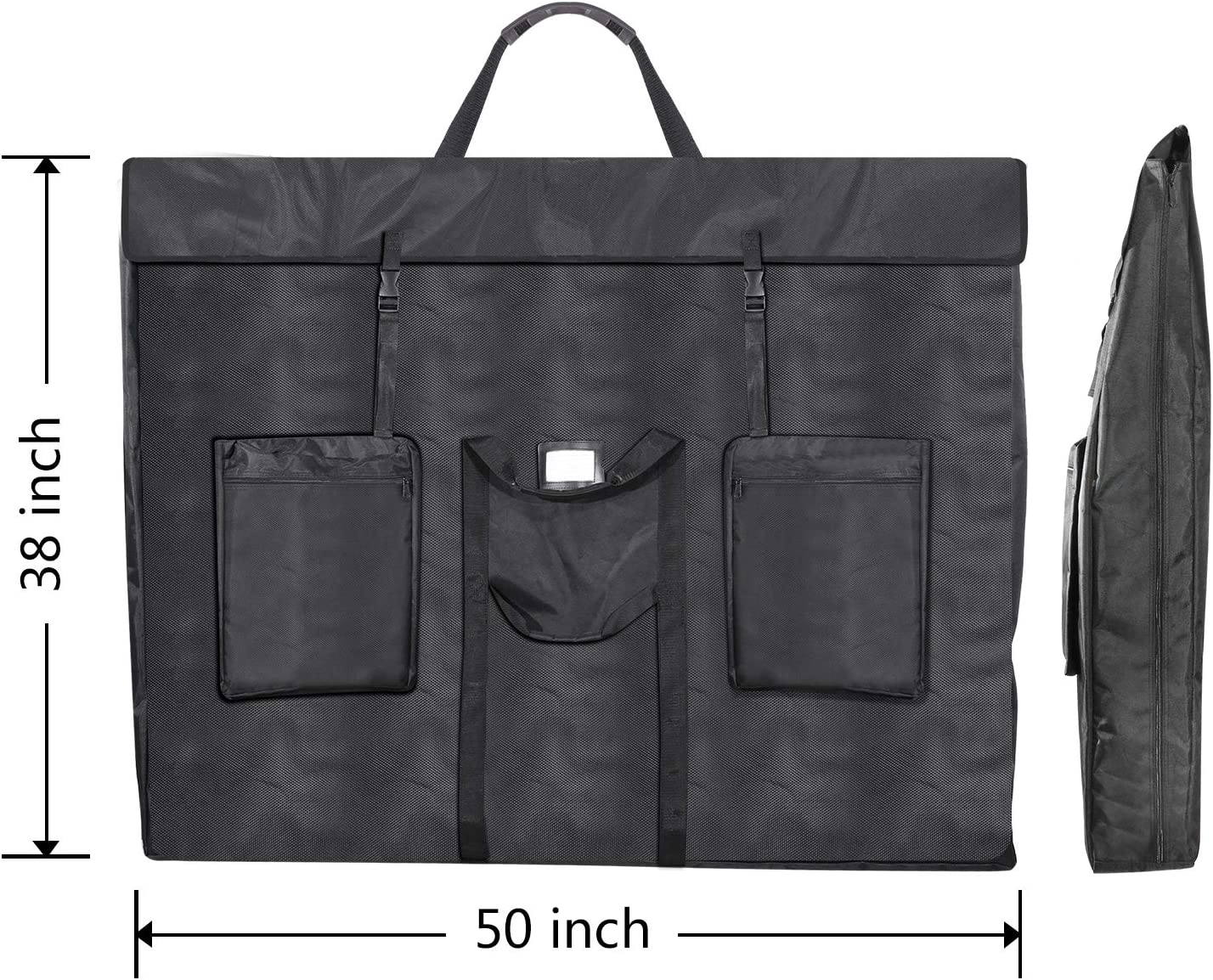 Great for LCD Screens Shoulder Strap /& Carry Handles Water Resistant Art Portfolio Monitors TVs /& Frames 1st Place Products Premium Oversized Transport Case 38 x 50 Inches Soft Sided