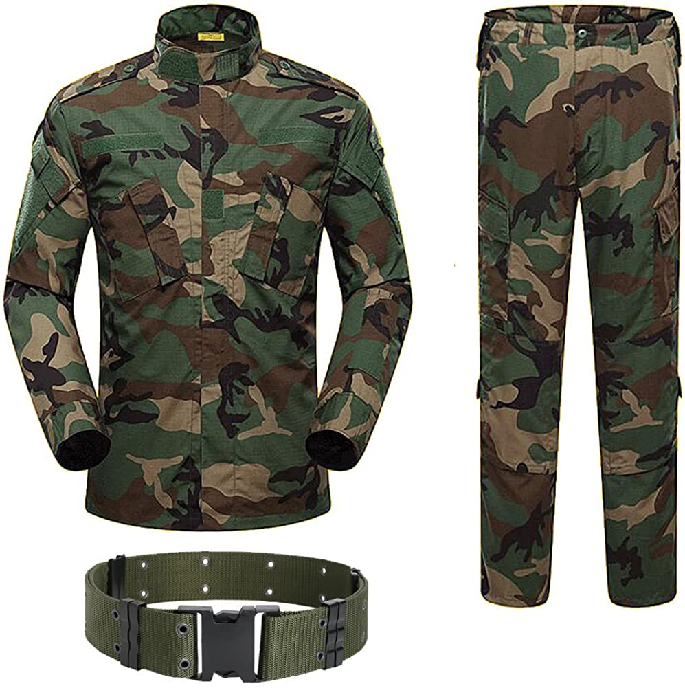 Herren Tactical Airsoft Combat T-shirt Cargo Hose Army BDU Uniform Camouflage