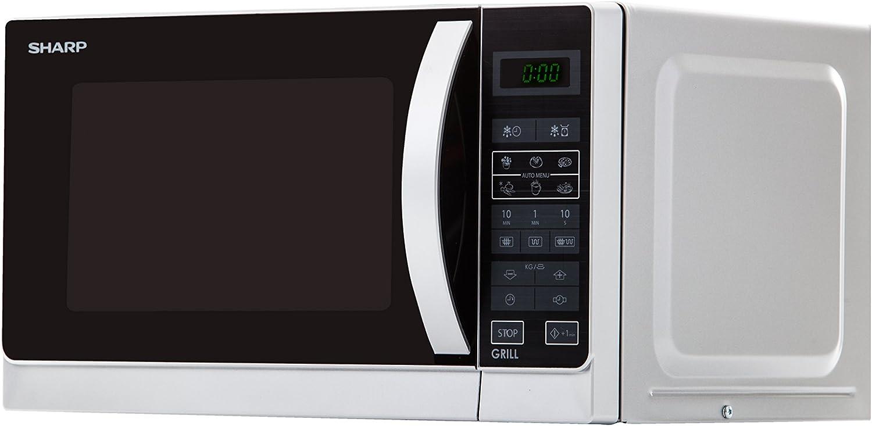 Sharp R-642INW Microondas Grill 20L, Control Tactíl, 800W, 800 W ...