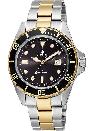Radiant Reloj Analógico para Hombre de Cuarzo con Correa en Acero Inoxidable RA410205: Amazon.es: Relojes