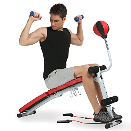 Vividy Sit Up AB - Banco con bola de velocidad, ajustable, plegable, abdominal, para gimnasio, casa, fitness, ejercicio: Amazon.es: Deportes y aire libre