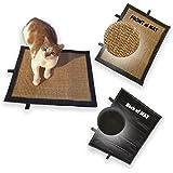 "Cat Scratch Mat,Cat Scratch Pad,Cat Scratcher Sisal Mat Pad, Soft Trim, Size, 18.5"" x 14.5"" / 37cm x 47cm"
