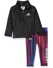 4ea92712391 Adidas Girls  Tricot Zip Jacket and Pant Set