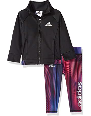 585d98dfe5ea9c Adidas Girls  Tricot Zip Jacket and Pant Set