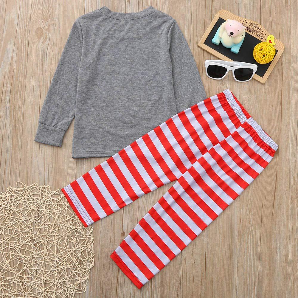 Family Christmas Pajamas Xmas Pajamas Sets Outfit Santa Claus Matching Family PJS Kids Boys Girls Homewear Nightwear by Steagoner Pajamas Sets (Image #3)