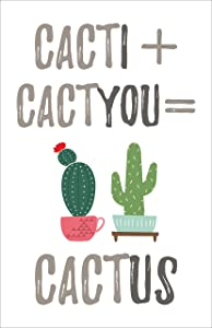 Cacti Cactyou Cactus Poster, 11x17 Inches, Wall Art Print, Couples Bedroom Decor