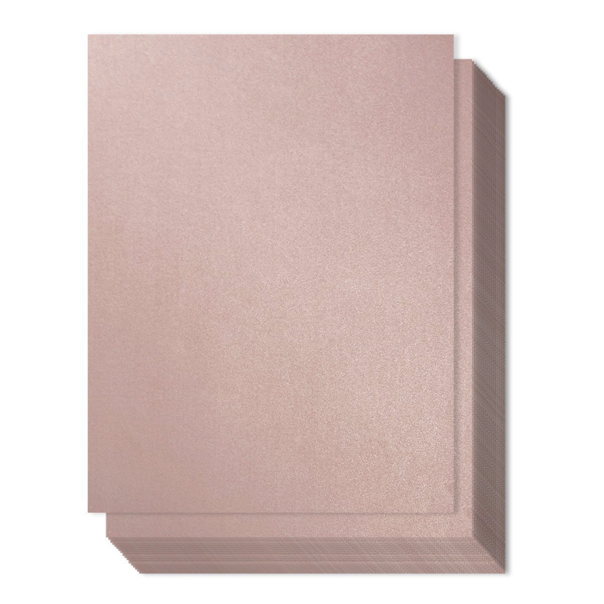 96 Count Metallic Mauve Stationery Paper/Invitation Paper for Writing, Scrapbooking, Letters, Certificates, Crafts, 8.5 x 11 Inches