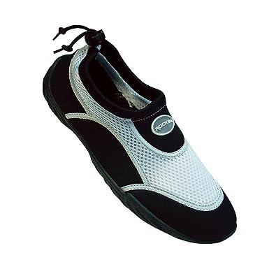6dde57b0593c Rockin Footwear Men s Aqua Stripes Rubber Water Shoe MAQ12 Black White13