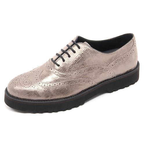 B5910 scarpa inglese donna HOGAN H259 ROUTE francesina tortora shoe woman