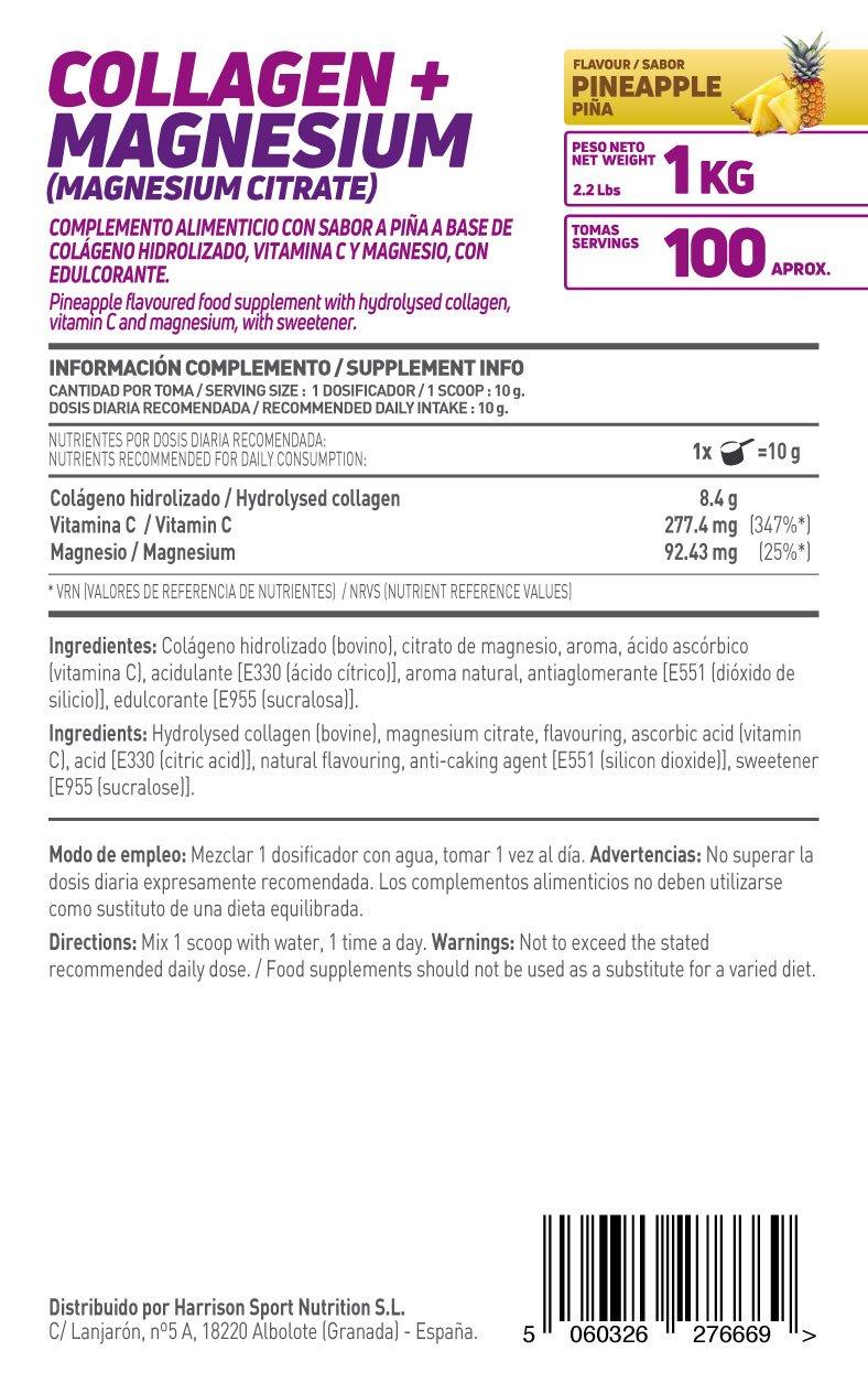 Colágeno Hidrolizado con Magnesio de HSN Essentials | Origen Bovino | Con Vitamina C | Cuidado de las Articulaciones, Salud para los Huesos, Piel, ...