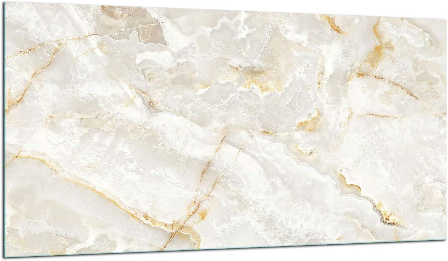 Placa protectora para cubrir la vitrocer/ámica 80 x 52 cm, 1 pieza, para inducci/ón, protecci/ón contra salpicaduras, placa de cristal dise/ño de flores TMK