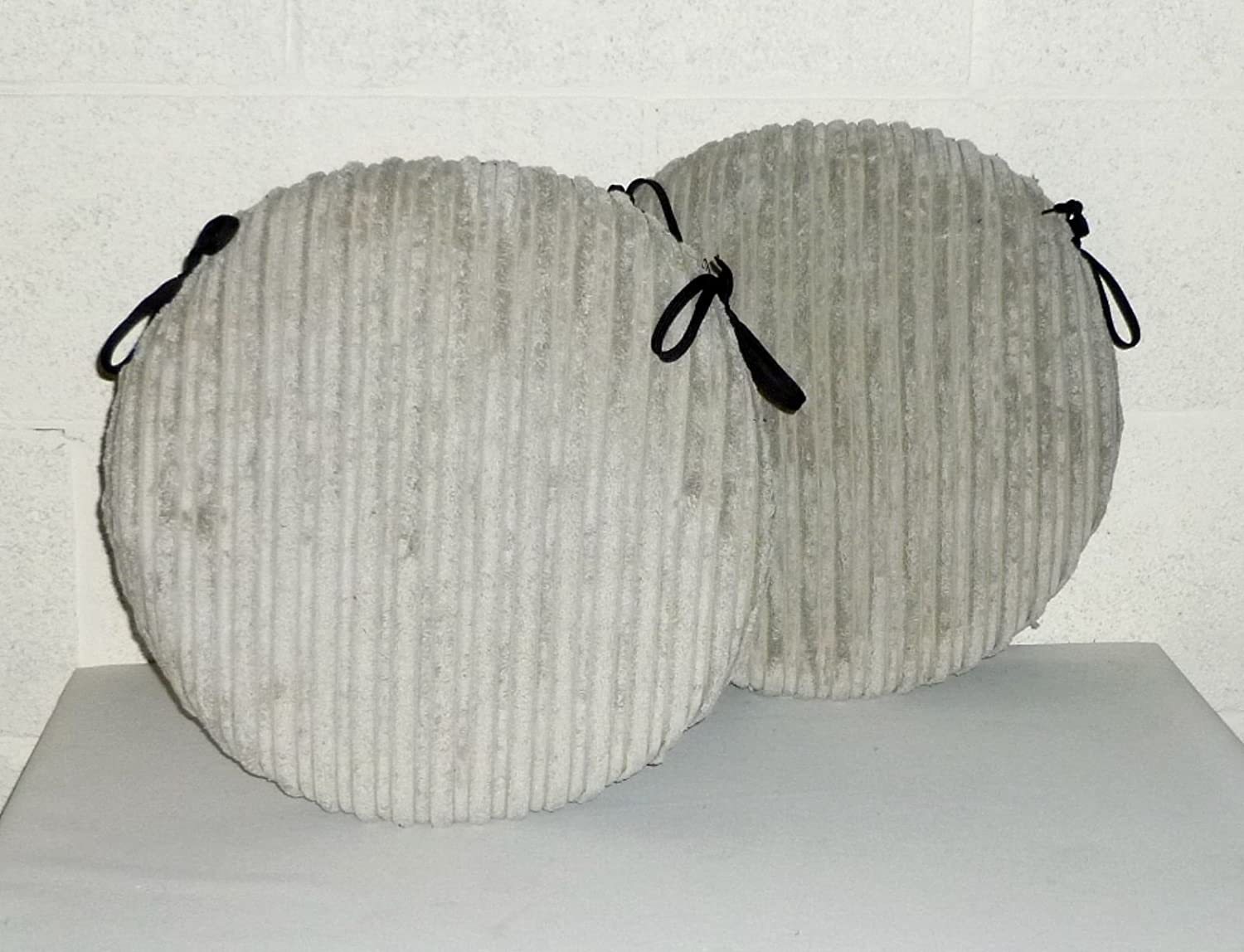 Seat Pads for Home /& Garden Furniture Beige Chunky Cord 2 x Zippy 20 Round Seat Cushions