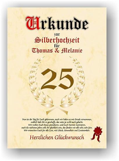 Certificado para 25. Aniversario - silder boda - Escrituras Bodas ...