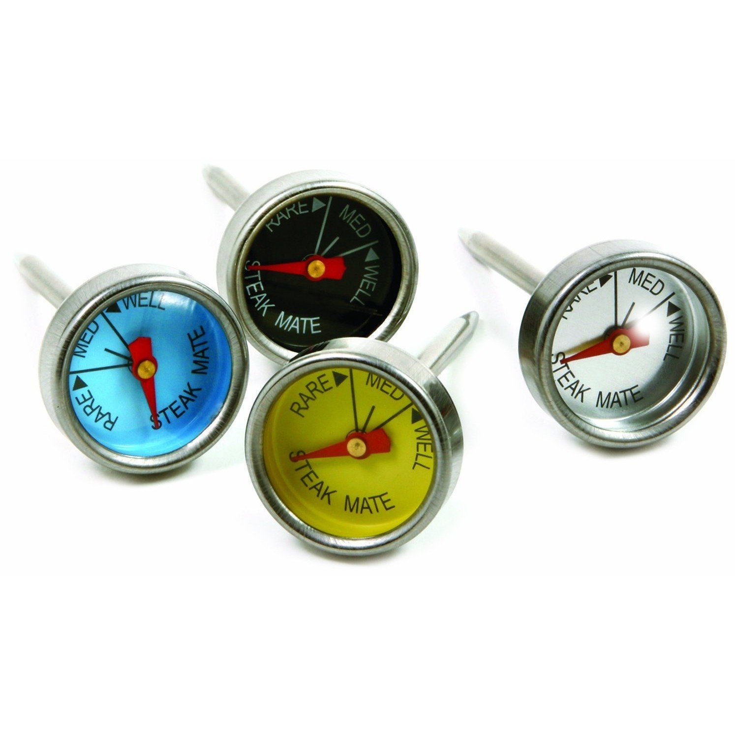 Cooking Thermometer, Color Mini Steak Bbq Grill Oven Thermometer, Set Of 4