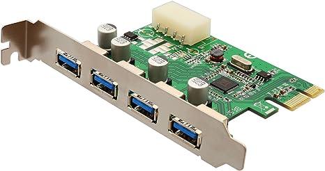 Syba Super Speed USB 3.0 4 Port PCI-e x 1 Hub Expansion Card Molex Power Connector Desktop PC