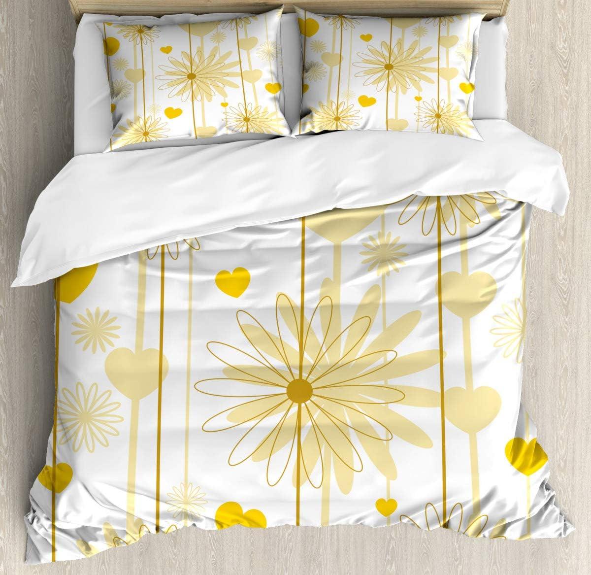 "Duvet Cover Bedding Duvet Cover SetValentines Floral Design Duvet Cover SetCustom 3 Piece Bedding Set with 2 Pillow Shams,70""x86""/19""x29""inch"