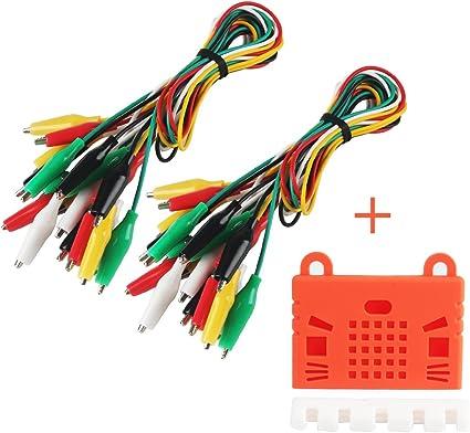 Lot de 20/Test plomb /électrique Clip Alligator pince rouge Noir